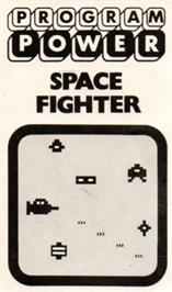 Box cover for Space Fighter on the Acorn Atom.