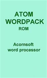 Box cover for Wordpack on the Acorn Atom.