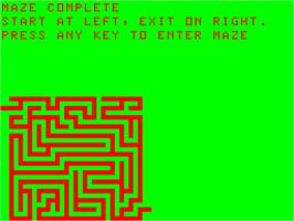 In game image of 3D Maze on the Acorn Atom.