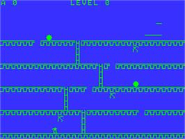 In game image of Acorn Kong on the Acorn Atom.