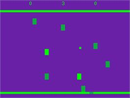 In game image of Drive on the Acorn Atom.