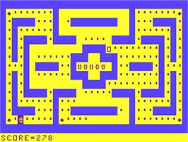 In game image of Ghost Maze on the Acorn Atom.