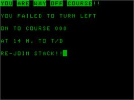 In game image of Heathrow on the Acorn Atom.