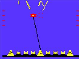 In game image of Missile Base on the Acorn Atom.