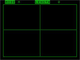 In game image of Shape Edit on the Acorn Atom.