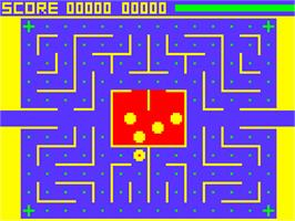 In game image of Snapper on the Acorn Atom.