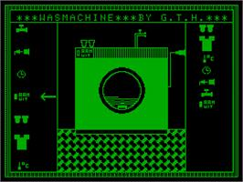 In game image of Wasmachine on the Acorn Atom.
