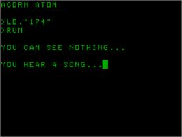 Title screen of Badin on the Acorn Atom.