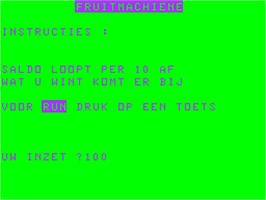Title screen of Bandit on the Acorn Atom.