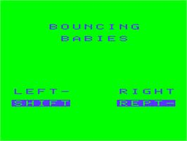 Title screen of Bouncing Babies on the Acorn Atom.