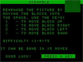 Title screen of Brains on the Acorn Atom.