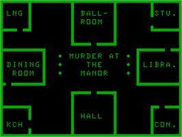 Title screen of Cluedo on the Acorn Atom.