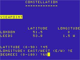 Title screen of Constellation on the Acorn Atom.