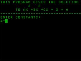 Title screen of Cubic on the Acorn Atom.