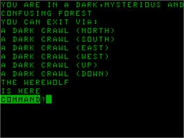 Title screen of Dungeon on the Acorn Atom.