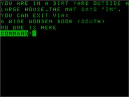Title screen of House on the Acorn Atom.
