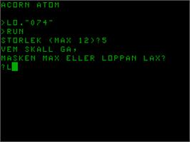 Title screen of Labyrint on the Acorn Atom.