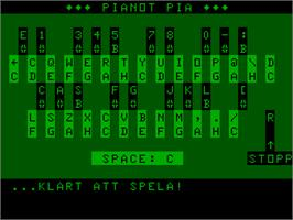 Title screen of Pianot Pia on the Acorn Atom.