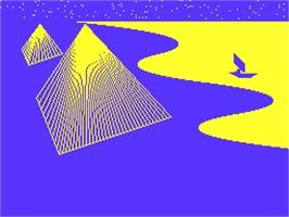 Title screen of Piramide on the Acorn Atom.