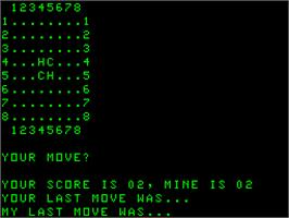 Title screen of Super Othello on the Acorn Atom.