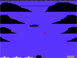 Title screen of Torpedo Run on the Acorn Atom.