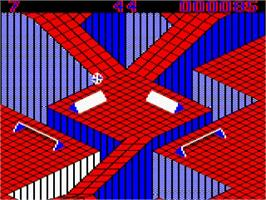 In game image of Gyroscope on the Acorn BBC Micro.
