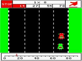 In game image of Number Chaser on the Acorn BBC Micro.