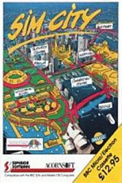 Box cover for Sim City on the Acorn Electron.