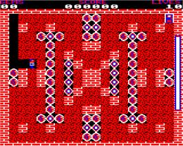 In game image of Diamond Pete on the Acorn Electron.