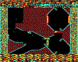 In game image of Exile on the Acorn Electron.