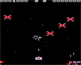 In game image of Galaforce 2 on the Acorn Electron.