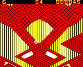 In game image of Gyroscope on the Acorn Electron.