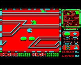 In game image of Perplexity on the Acorn Electron.