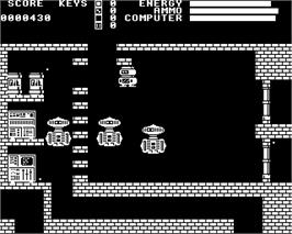 In game image of Plan B on the Acorn Electron.