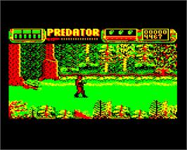In game image of Predator on the Acorn Electron.