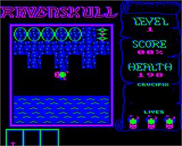 In game image of Ravenskull on the Acorn Electron.