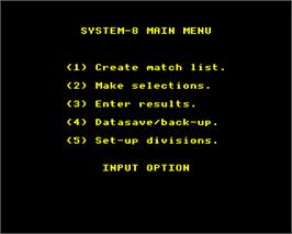 In game image of System-8 on the Acorn Electron.