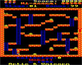 In game image of Woks on the Acorn Electron.