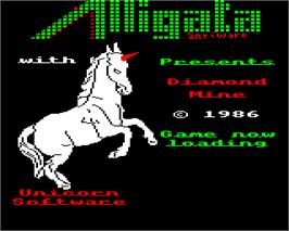 Title screen of Diamond Pete on the Acorn Electron.