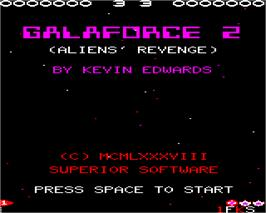 Title screen of Galaforce 2 on the Acorn Electron.