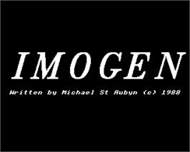 Title screen of Imogen on the Acorn Electron.