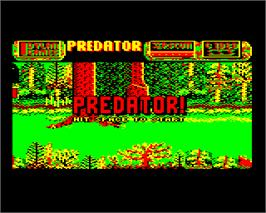 Title screen of Predator on the Acorn Electron.