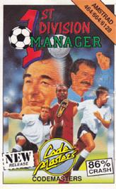 Box cover for 1st Division Manager on the Amstrad CPC.