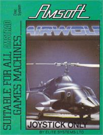 Box cover for Airwolf on the Amstrad CPC.
