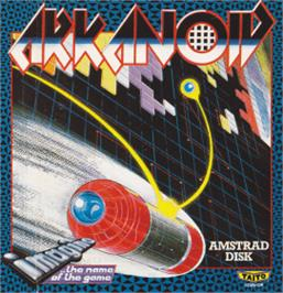 Box cover for Arkanoid on the Amstrad CPC.