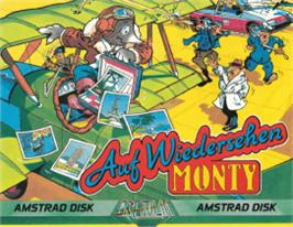 Box cover for Auf Wiedersehen Monty on the Amstrad CPC.