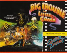 Box cover for Big Trouble in Little China on the Amstrad CPC.