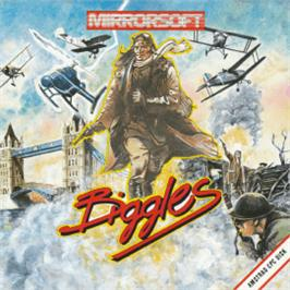 Box cover for Biggles on the Amstrad CPC.