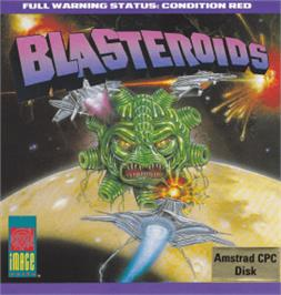Box cover for Blasteroids on the Amstrad CPC.