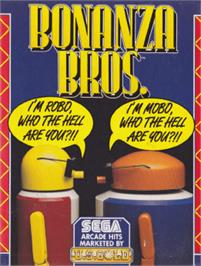 Box cover for Bonanza Bros. on the Amstrad CPC.
